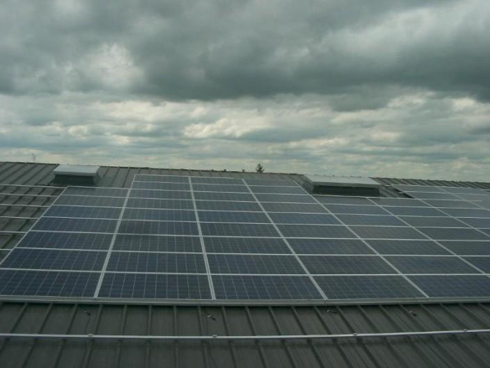 Installation photovolta que sur bacs aciers l 39 unit d partementale de le blanc 36 sarl - Garage photovoltaique gratuit ...