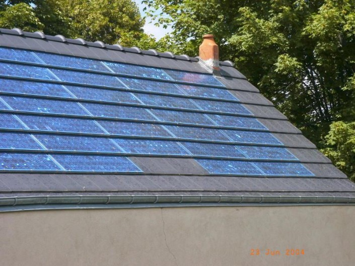 Installation 3kwc sur garage en tuiles m caniques neuvy saint s pulchre sarl plantureux - Garage photovoltaique gratuit ...