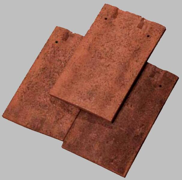 Tuile de marque Terreal modèle Prieuré couleur rouge ancien