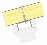 Panneaux sandwich sur support en béton